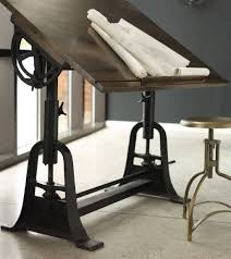 Drafting Table Base Furniture Distressed Antique Drafting Table With Metal Legs