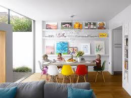 dining room wall shelves display shelves ideas dining room contemporary with moulded chairs