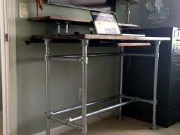 10 diy standing desks built with pipe and kee klamp rustic
