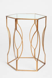 gold metal side table hexagon side table hexagon sides metal side table and nightstands