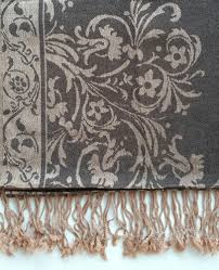 Ottoman Design Turkish Ottoman Design Pashmina Gold Brown Scarf Shawl