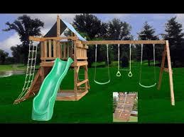Backyard Swing Set Plans by Diy Swing Set Diy Swing Set Accessories Youtube