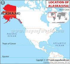 map of the united states showing alaska and hawaii where is alaska location of alaska