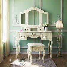 Vanity Desk Mirror Acme 30370 Dorothy Ivory Vanity Desk With Mirror Ebay