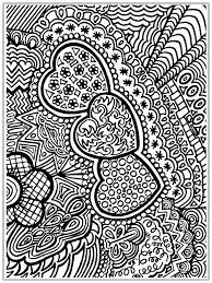 valentines coloring page with heart decorative love heart