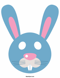easter bunny mask template there is also a coloring page version