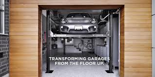 garage flooring storage organization living silver porsche four post car lift inside garage