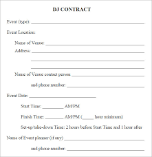 dj contract templates amitdhull co