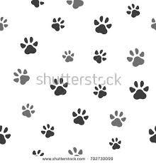 pet paw seamless pattern icon animal stock vector 702730099