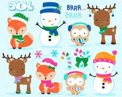 christmas penguins digital clipart set merry christmas