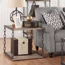 homesullivan philco light oak end table 40523 04 the home depot