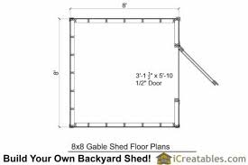 shed floor plan 8x8 gambrel shed plans icreatables