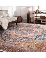 8 X 13 Area Rug Deals On Nuloom Traditional Fancy Medallion Border Rust Area