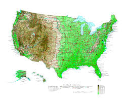 San Francisco Elevation Map Maps Of Usa Detailed Map Of United States Of America In English