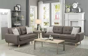 Grey Sofa And Loveseat Set Amazon Com Homelegance Deryn Mid Century Modern Sofa With Tufted
