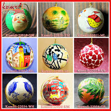 red hand painted kashmir paper mache holiday time christmas