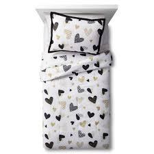 Black And White Bedroom Comforter Sets Hello Hearts Comforter Set Black U0026white Pillowfort Black White