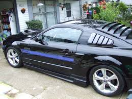 Blue And Black Mustang Anybody Have Pictures Of Black Mustang With Blue Racing Stripes