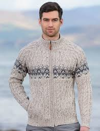 mens sweater cardigan mens cardigan sweater clan arans