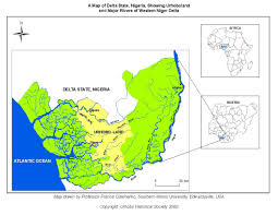 Rivers In Usa Map by A Map Of Delta State Nigeria Showing Urhoboland And Major Rivers