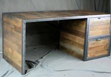 Reclaimed Wood Executive Desk Handmade Desks U0026 Home Office Furniture Ebay
