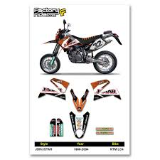 motocross bikes for sale ebay 1999 2004 ktm lc4 jdr jstar dirt bike graphics kit motocross