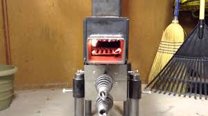 pellet rocket stove all plumbed up youtube
