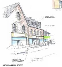 Home Shop Plans New Roundabout And Shop Plans Linked To Williton Supermarket