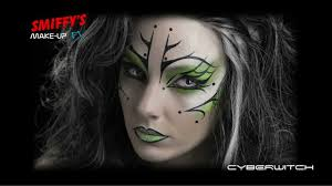 Good Makeup Ideas For Halloween by Cyber Witch Face Painting Halloween Make Up Tutorial Youtube