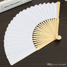 cheap hand fans for wedding wholesale 23 cm wedding white color paper hand fan wedding party