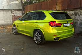 bmw x5 electric car bmw f15 x5 wrapped in electric lime vinyl in russia autoevolution
