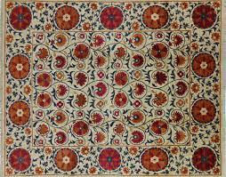 Ivory Wool Rug 8 X 10 8 X 10 Persian Suzani Handmade Ivory Wool Area Rug Mc118