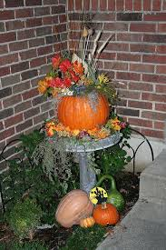 fall decorations for outside cool decorating with pumpkins keciaclarke