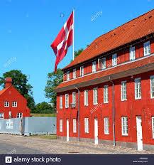 denmark flag in copenhagen stock photo royalty free image
