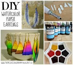 earrings diy diy watercolor paper earrings how to make a pair of paperclip