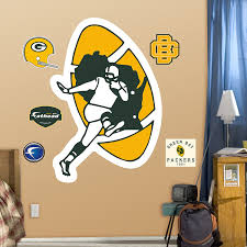 Green Bay Packers Home Decor Amazon Com Nfl Green Bay Packers Classic Logo Wall Graphics