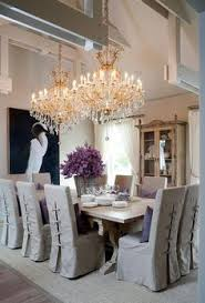Luxury Dining Chair Covers Tie Back And Corseted Slipcovers A Fun Way To Dress Up Plain