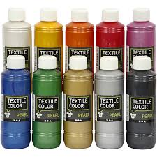 textile color paint pearl 10x250ml 33799