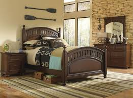 Earthy Room Decor by Brayden 4 Piece Full Bedroom Set Cherry Levin Furniture