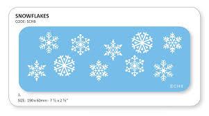 jem christmas snowflakes cake decorating stencil sugarcraft