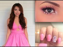 prom perfect make up hair and nails