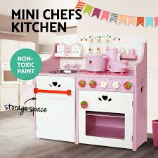 Childrens Wooden Kitchen Furniture Wooden Kitchen Pretend Play Set Toy Kids Toddlers Cooking Home