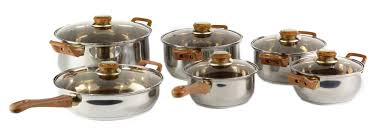 Stainless Stee Gourmet Chef Gourmet Chef 12 Stainless Steel Piece Cookware Set