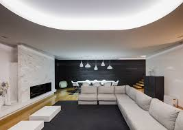 All White Living Room by Architecture Grey White Living Room White Modern House Decoration