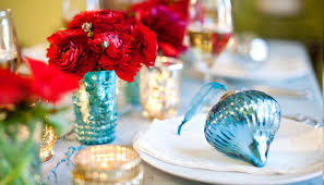 Red Wedding Decorations Teal And Red Holiday Decor Featured Virginia Wedding