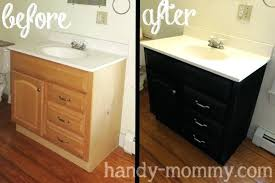how to refinish bathroom cabinets refurbishing bathroom cabinets refinish bathroom vanity fannect