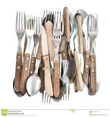 ustensile de cuisine vintage couverts de vintage rétro couteau fourchette et cuillère d