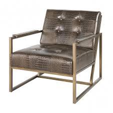 zebra accent chair furniture fortnum tufted nailhead parsons