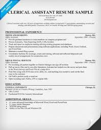 Clerical resume examples resume example and free resume maker