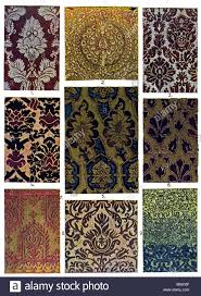 the italian ornament italian velvet and silk patterns stock photo